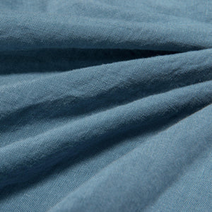 Linen Flat Sheet-Aruba Blue