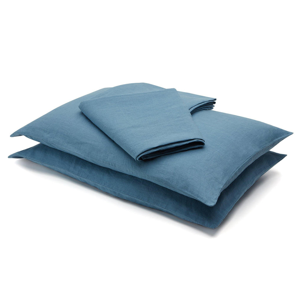 Linen Flat Sheet-Deep Blue - endlessbay