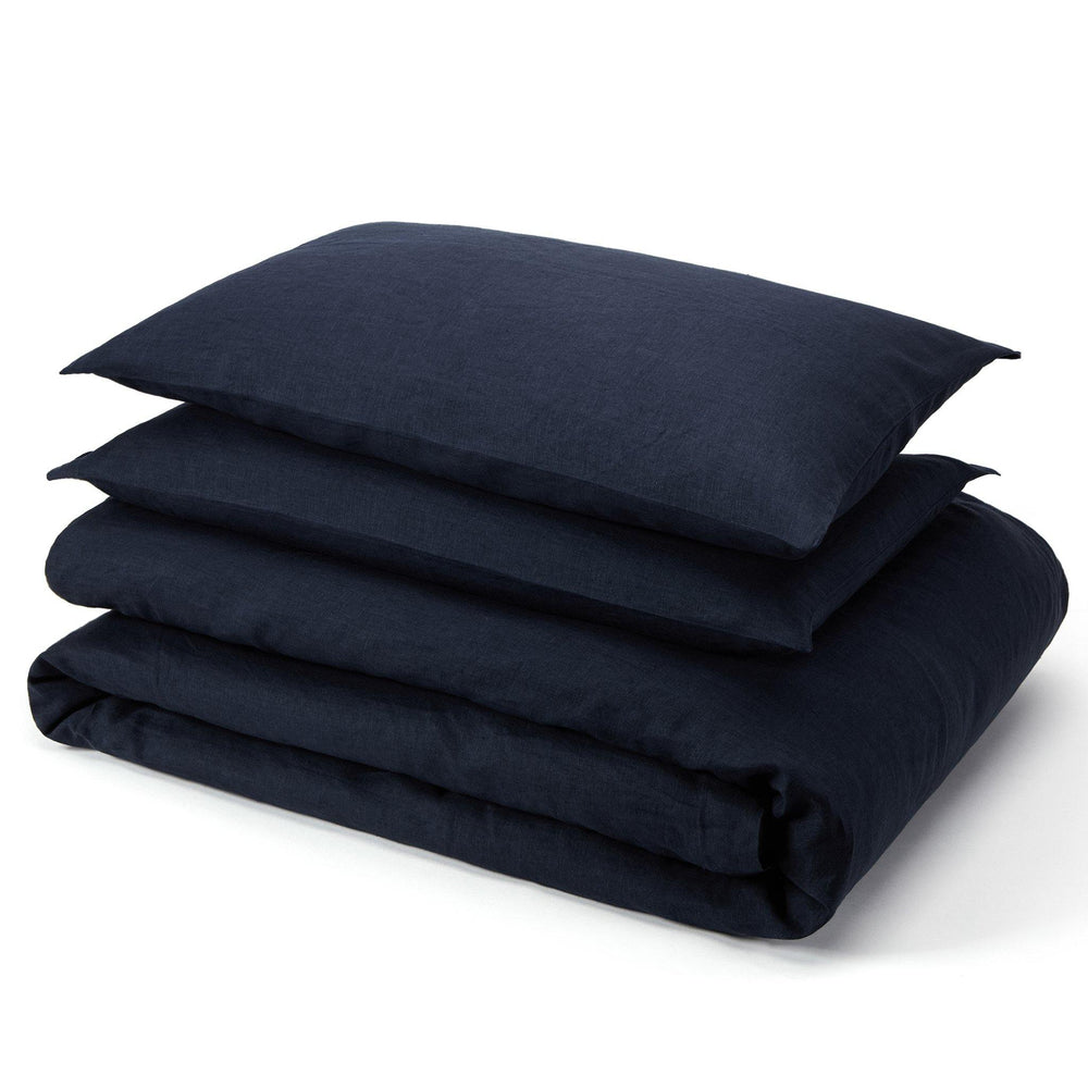 Essential Linen Sheet Set-Aruba Blue