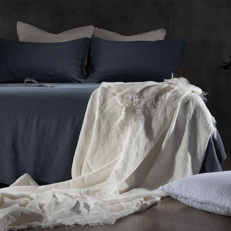 Essential Linen Sheet Set-Deep Blue - endlessbay