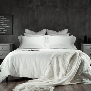 Essential Linen Sheet Set-Dawn Grey/Toasted Coconut