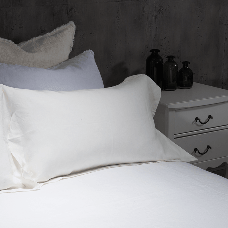 Essential Linen Sheet Set-Shell Ivory