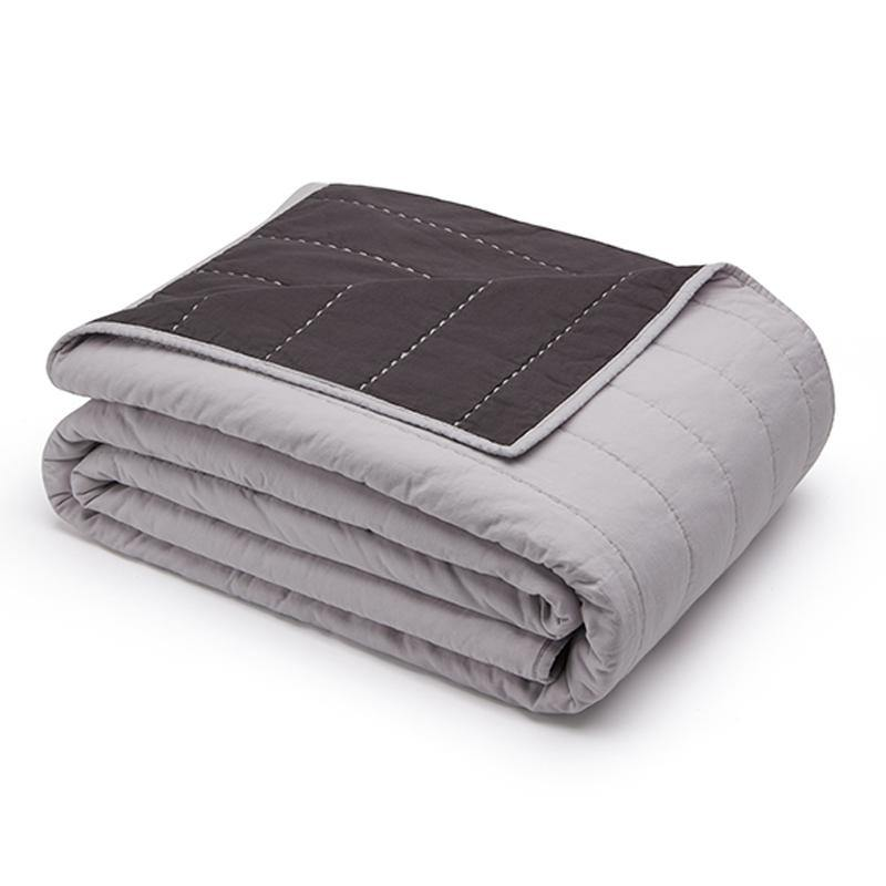 Organic Cotton Quilt-Smoky white/Charcoal gray - endlessbay (4414474518601)