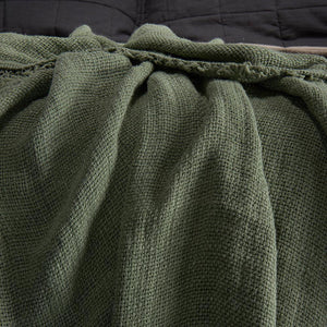 Throw-Olive green - endlessbay (4450296168521)