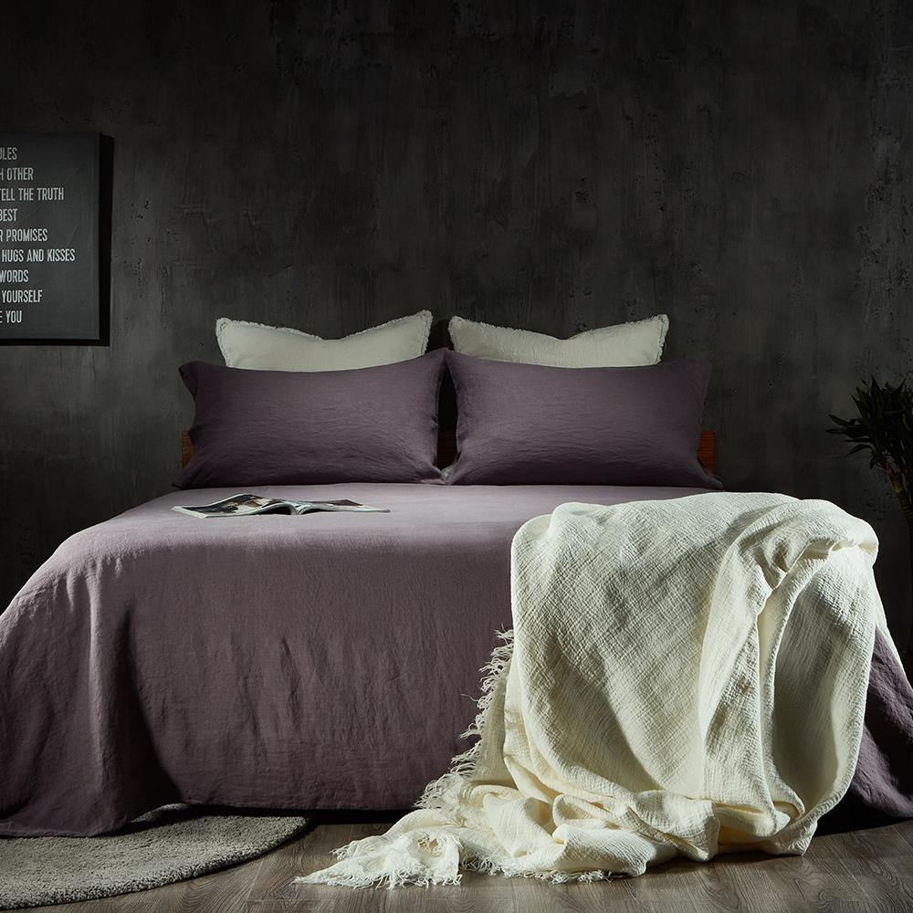 Essential Linen Sheet Set-Dawn Grey/Toasted Coconut - endlessbay