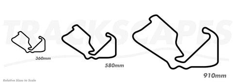 Silverstone UK Racing Track Wooden Wall Art Sculptures