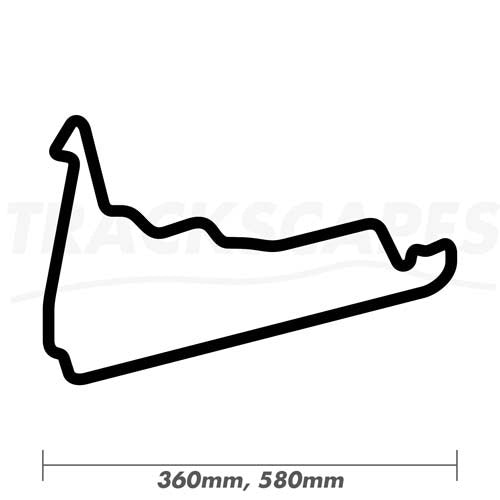 Autodromo Hermanos Rodriguez Wood Race Track Wall Art 360 and 580mm Model Dimensions