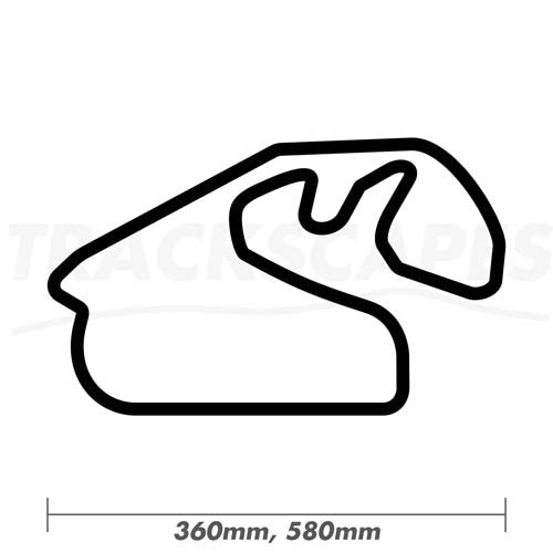 Autodromo Jose Carlos Pace Formula One Wood Race Track Wall Art 360 and 580mm Model Dimensions