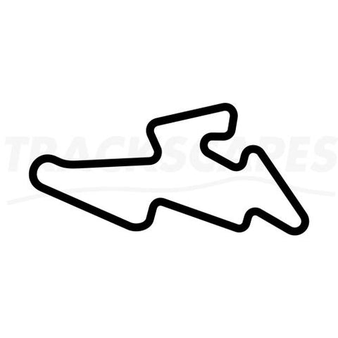 Automotodrom Brno Wooden Racing Track Replica Wall Art Shape Layout
