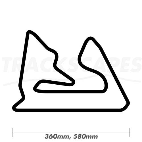 Bahrain International Circuit Wood Race Track Wall Art 360 and 580mm Model Dimensions