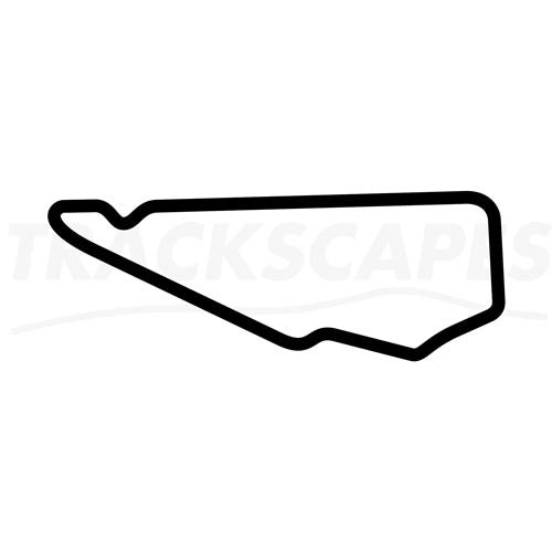 Bedford Autodrome PalmerSports South Circuit Wooden Racing Track Replica Wall Art Shape Layout