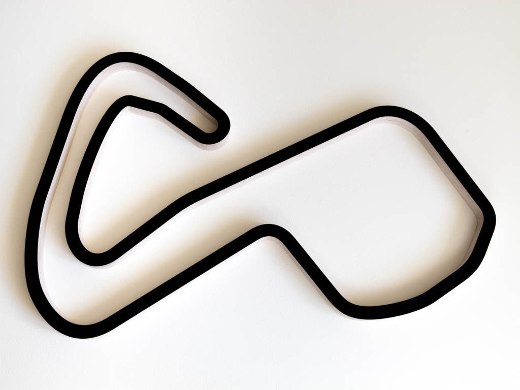Brands Hatch GP Circuit Wooden F1 Racing Track Wall Art Sculpture