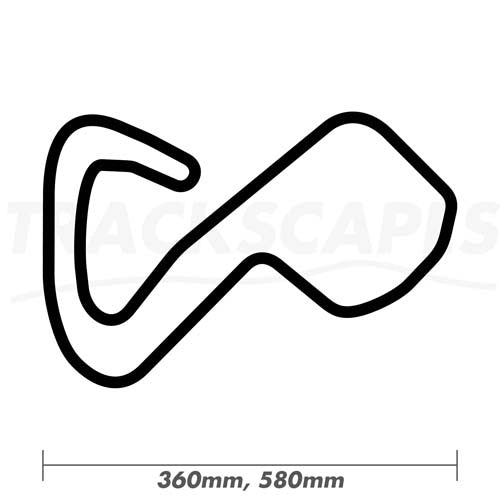 Brands Hatch GP Circuit Wooden F1 Racing Track Wall Art Replica