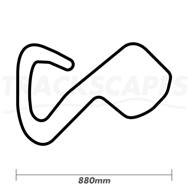 Brands Hatch GP Circuit Wood Race Track Wall Art 880mm Model Dimensions