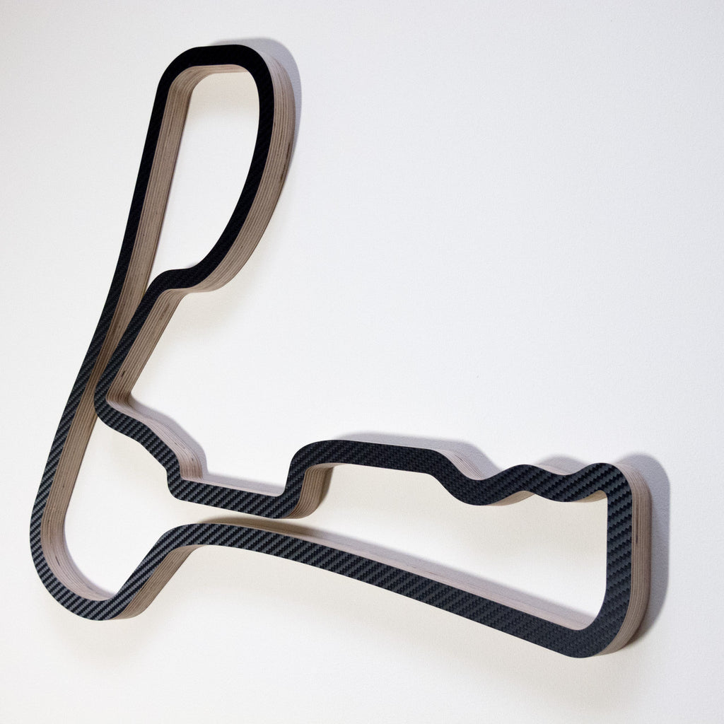 Cadwell Park Bike Circuit Wooden Motorsport Wall Art in Carbon