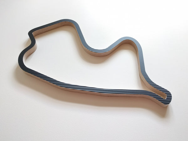 Canadian Tire Motorsport Park Wooden Wall Art Carving in Carbon