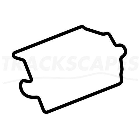 Circuit Des Invalides Paris France Wooden Racing Track Replica Wall Art Shape Layout