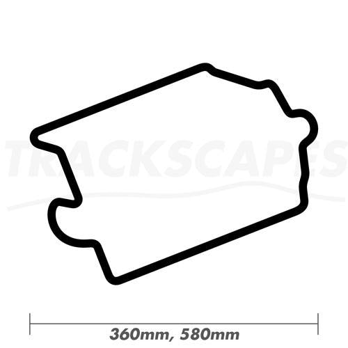 Circuit Des Invalides Paris France Wood Race Track Wall Art 360 and 580mm Model Dimensions