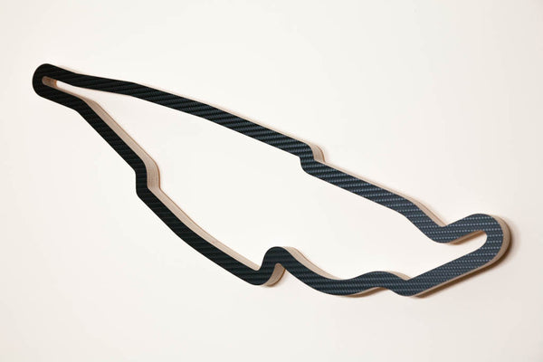Circuit Gilles Villeneuve Montreal Formula 1 GP Wooden Motorsport Track Art Sculpture Aerial View in a Carbon Finish