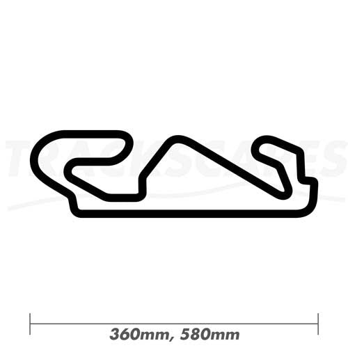 Circuit de Barcelona-Catalunya F1 and MotoGP Wood Race Track Wall Art 360 and 580mm Model Dimensions