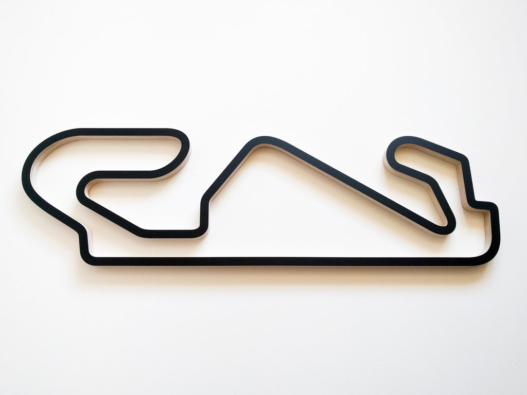 Circuit de Barcelona-Catalunya Racing Track Wall Art 910mm in Black