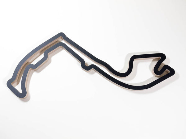 Circuit de Monaco Wood F1 GP Track Wall Art Replica Aerial View in a Black Finish