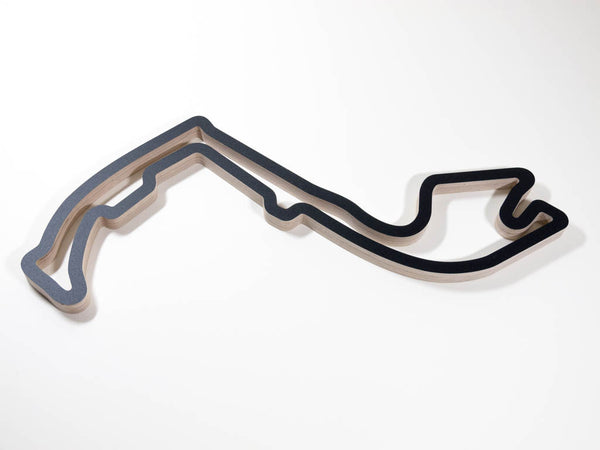 Circuit de Monaco in Monte Carlo Racing Track Wall Art Sculpture Low Aerial View in a Black Finish