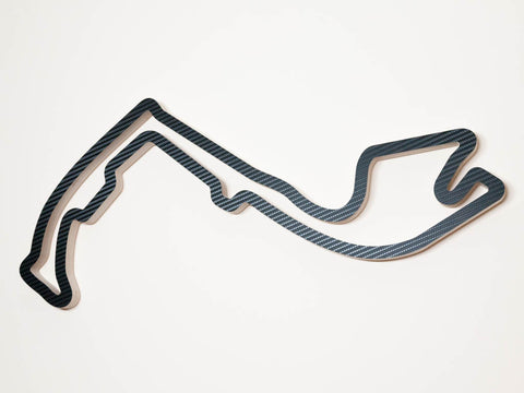 Circuit de Monaco Monte Carlo Wood Race Course Wall Art Replica in  Carbon Finish