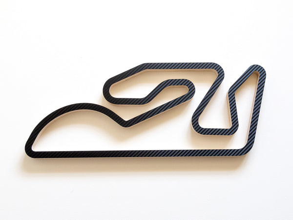 Circuit de Valencia Wall Sculpture in Carbon