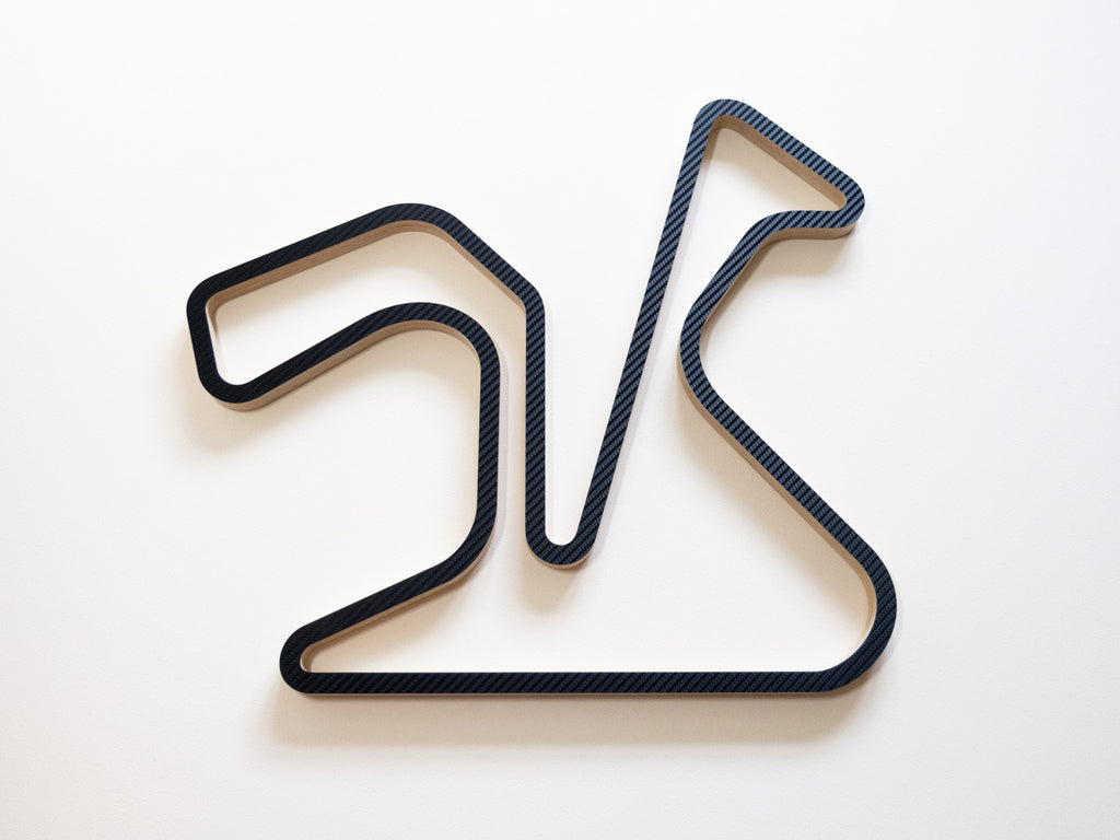 Circuito de Jerez Wood Motorsport Wall Art in Carbon