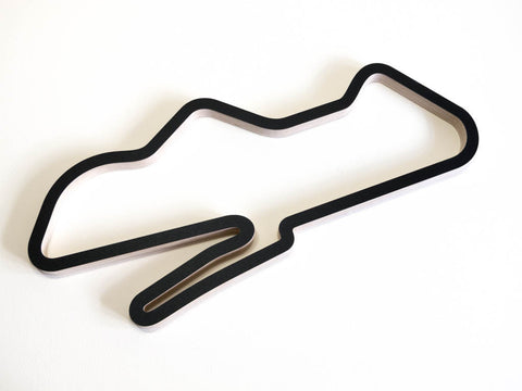 Donington Park GP WorldSBK Circuit Motorsport Race Course Wall Art Replica in a Black Finish