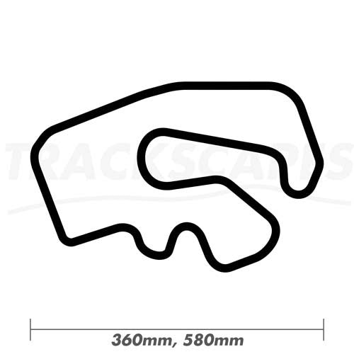 GYG Karting 360 and 580mm Wooden Race Track Wall Carving Dimensions