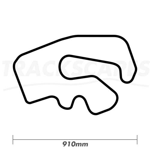 GYG Karting 910mm Wooden Racing Track Wall Carving Dimensions