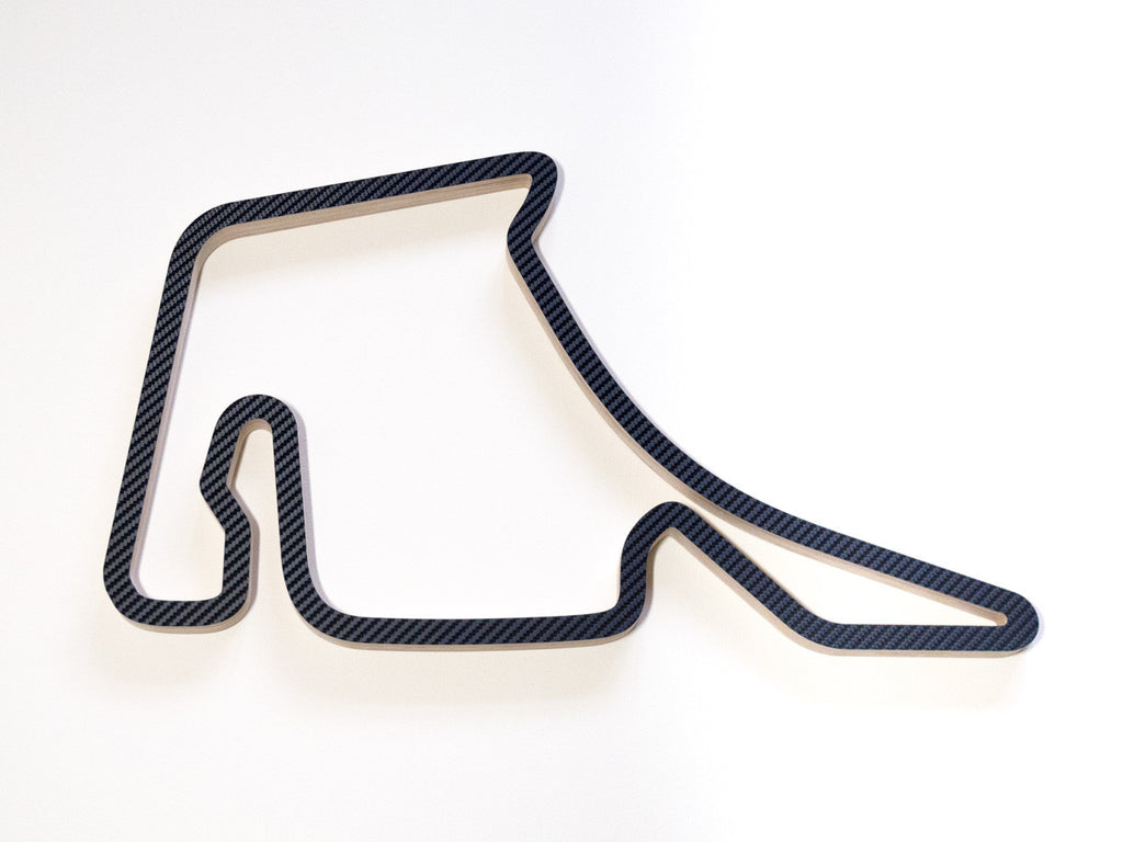 Hockenheimring Hockenheim Wood Wall Sculpture in Carbon