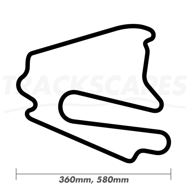 Lausitzring Motorcycle GP Course Wood Race Track Wall Art 360 and 580mm Model Dimensions