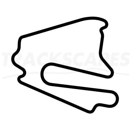 Lausitzring Motorcycle GP Course Wooden Racing Track Replica Wall Art Shape Layout