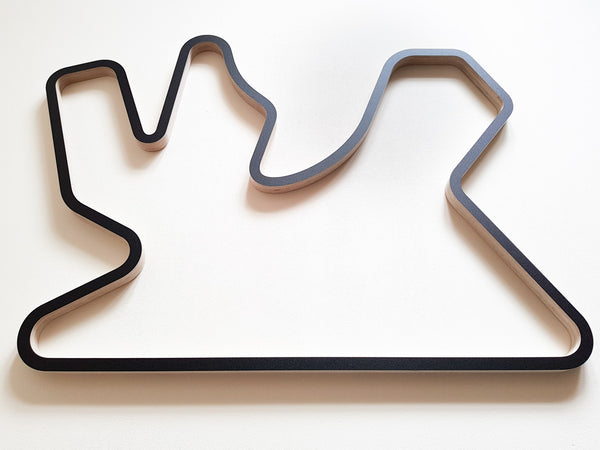 Losail International Circuit Wooden Racing Track Carving 910mm in Black