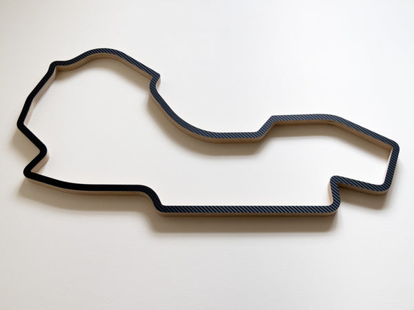 Melbourne Grand Prix Circuit 910mm Sculpture in Carbon Finish Low Angle