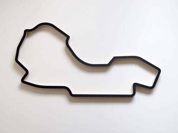 Melbourne Grand Prix Circuit 910mm Sculpture in Carbon Finish