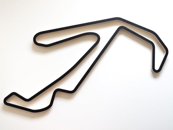 910mm Version of Misano Trackscape Sculpture in Carbon