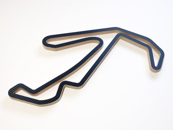 Misano World Circuit Wooden Racing Wall Art in Carbon