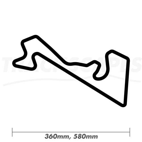Moscow Raceway Wood Race Track Wall Art 360 and 580mm Model Dimensions