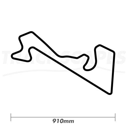 Moscow Raceway Wood Race Track Wall Art 910mm Model Dimensions