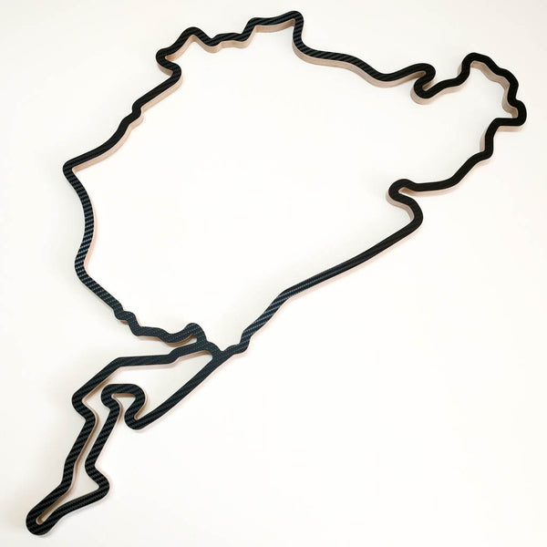 Nurburgring Racing Track Wall Art Model of the Combined GP circuit and Nordschleife Aerial View in a Carbon Finish