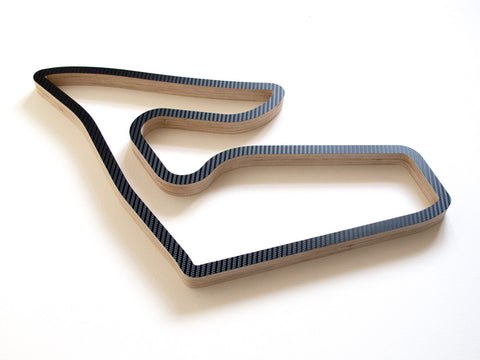 A Wooden Reproduction of the Red Bull Ring in Austria in Carbon