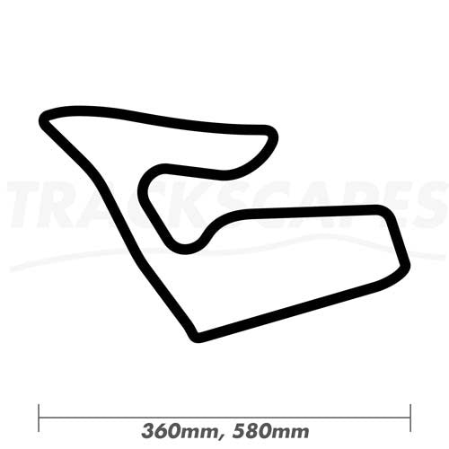 Red Bull Ring Circuit Wood Race Track Wall Art 360 and 580mm Model Dimensions