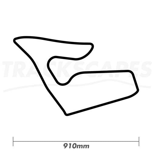 Red Bull Ring Circuit Wood Race Track Wall Art 910mm Model Dimensions