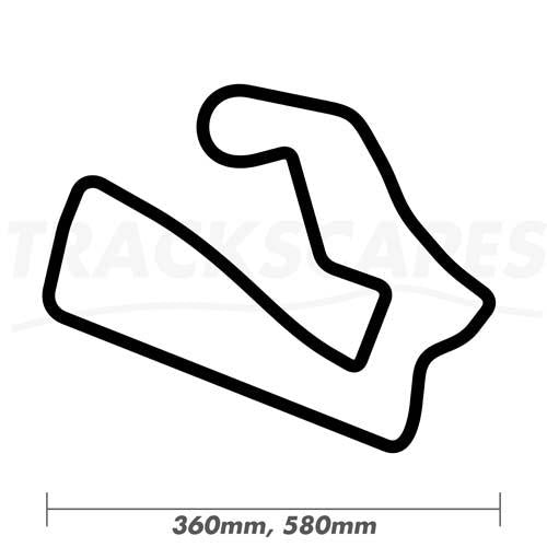 Road America Wooden Racing Track Art Carving 360 and 580mm Dimensions