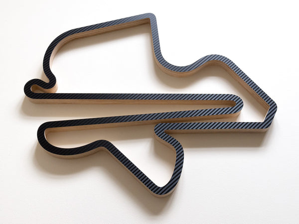 Sepang International Circuit Malaysia Wooden Formula 1 Racing Track Wall Art Sculpture