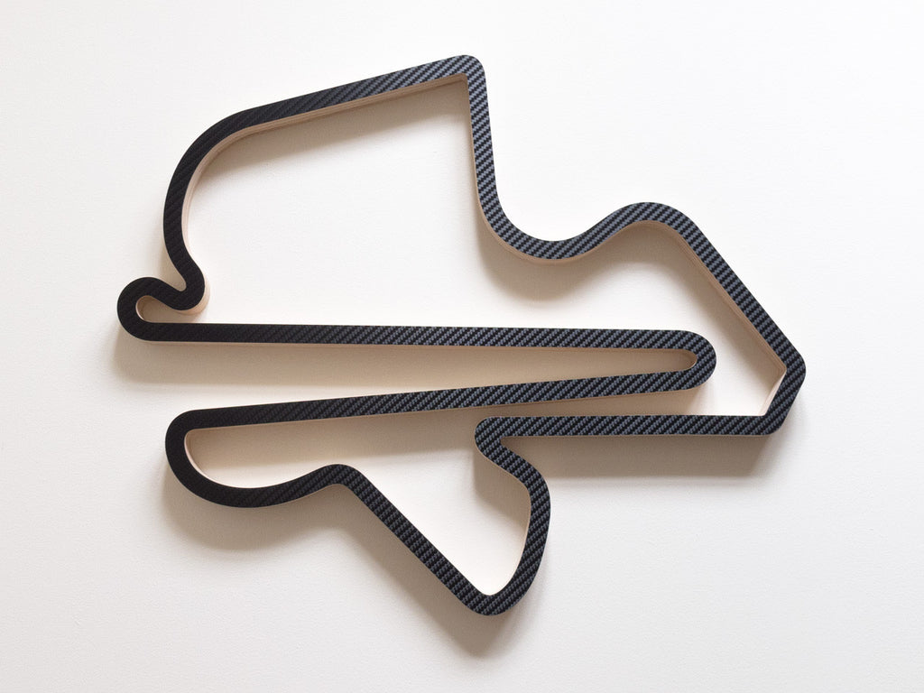 Sepang International Circuit Kuala Lumpur Wooden F1 Racing Track Wall Art Sculpture